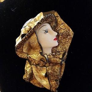 Beautiful woman pin